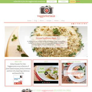 Veggietorials Vegan Blog Design