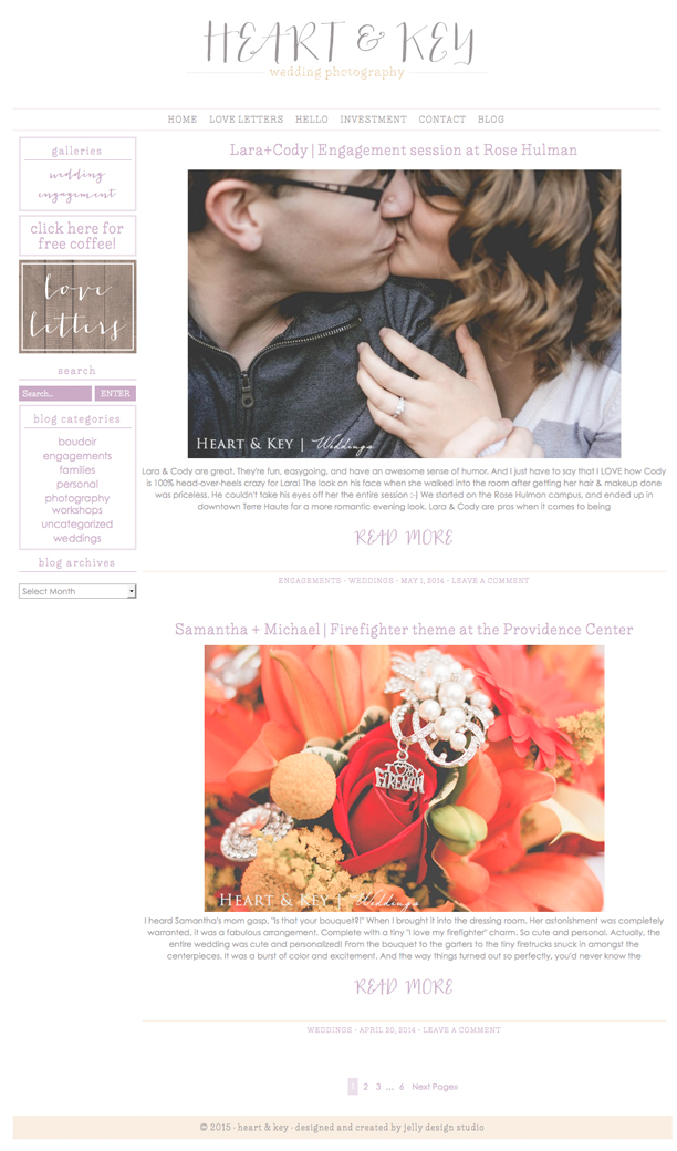 Heart and Key Blog Page