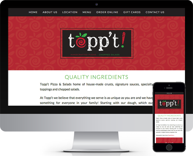 Toppt Pizza Mobile Friendly Website designed by Jelly Design Studio | www.jellydesignstudio.com