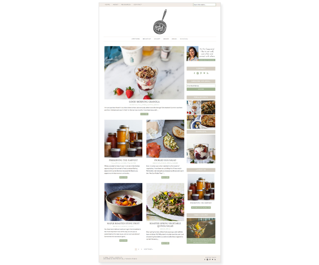 Mobile Friendly Food Blog Design for Food and Good Co. by Jelly Design Studio | jellydesignstudio.com
