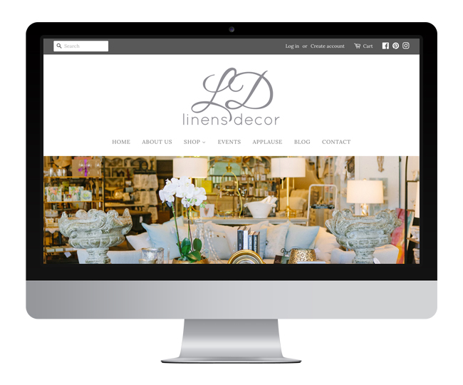 Ecommerce Website for LD Linens and Decor Designed by Jelly Design Studio | jellydesignstudio.com