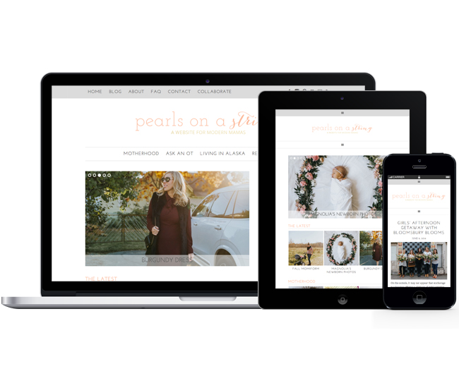Responsive Blog Design for Pearls on a String by Jelly Design Studio | jellydesignstudio.com