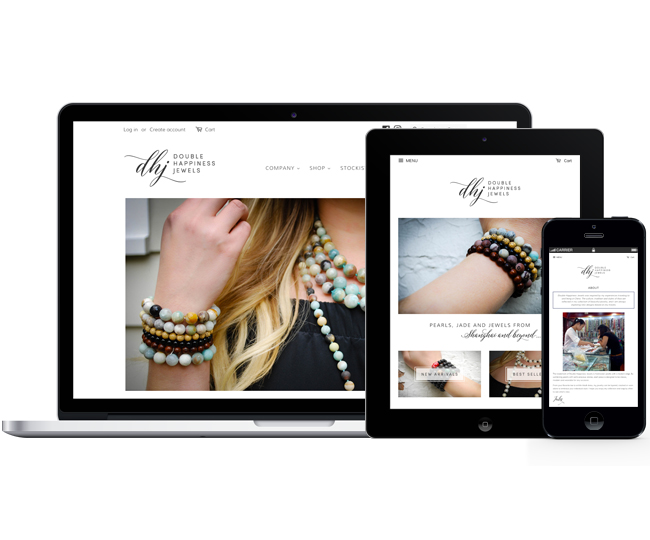 Ecommerce Website for Double Happiness Jewels Designed by Jelly Design Studio | jellydesignstudio.com