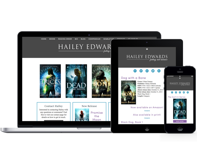 Author WordPress Website for Hailey Edwards by Jelly Design Studio | jellydesignstudio.com
