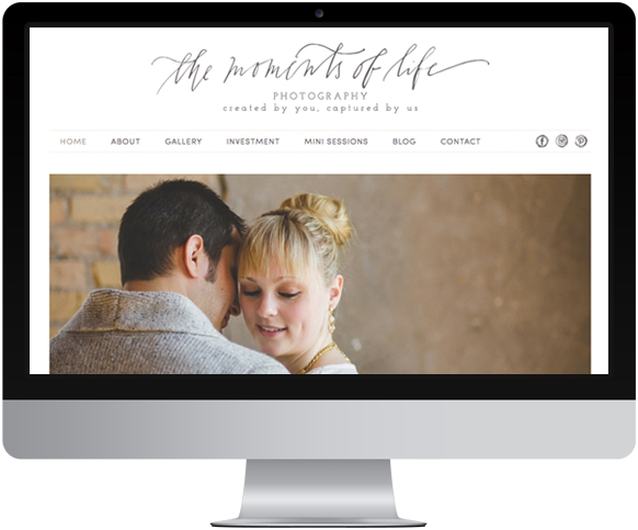 The Moments of Life Website Design