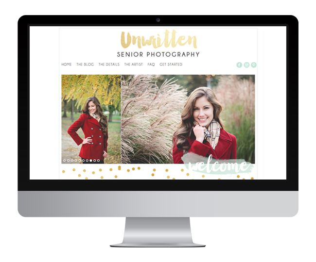 Photography Website Design for Unwritten by Jelly Design Studio | jellydesignstudio.com