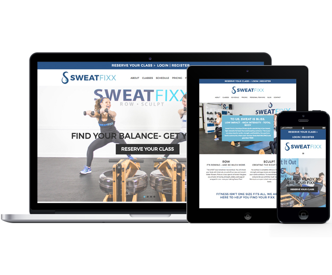 Mobile Friendly Website Design for SweatFixx by Jelly Design Studio | jellydesignstudio.com