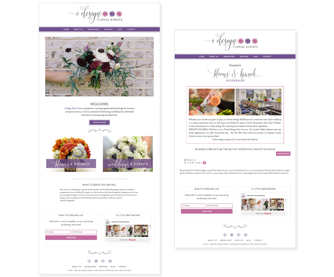 iDesign Floral Events Website Design by Jelly Design Studio | jellydesignstudio.com