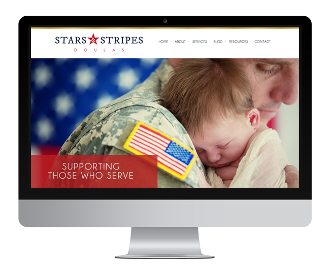 WordPress Website Design for Stars and Stripes Doulas Website Design by Jelly Design Studio | jellydesignstudio.com
