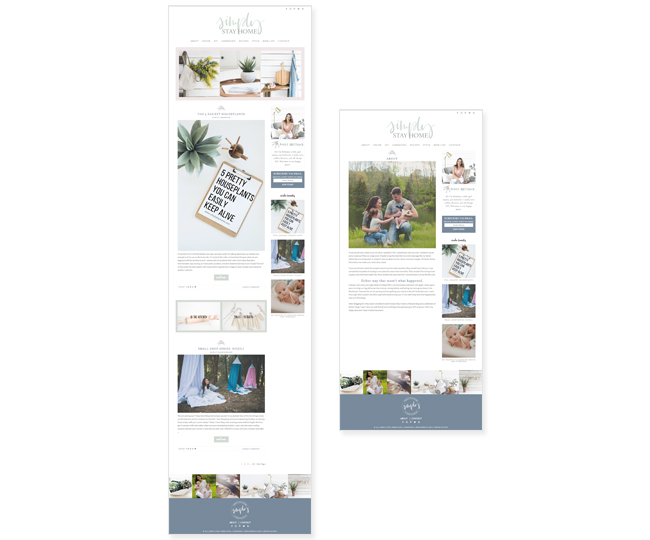 Blog Design for Simply Stay Home by Jelly Design Studio | jellydesignstudio.com