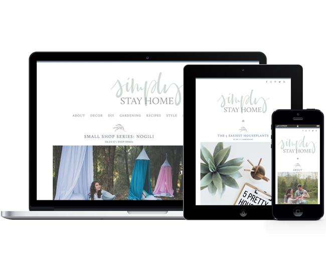 Mobile Friendly Blog Design - Simply Stay Home by Jelly Design Studio | jellydesignstudio.com